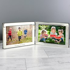 Double 6x4 Silver Photo Frame
