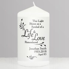 Loving Memory Life & Love Candle