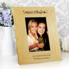 Oak Finish 4x6 Best Friends Photo Frame