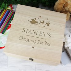 Large Wooden Christmas Eve Box