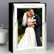 Silver 4x6 Photo Frame Album