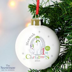 The Snowman and the Snowdog My 1st Christmas Bauble