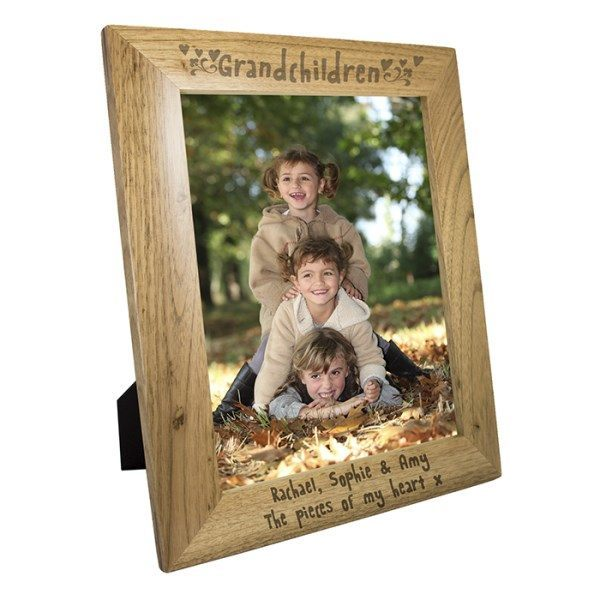 Grandchildren 8x10 Wooden Photo Frame in Portrait | SpecialMoment.co.uk