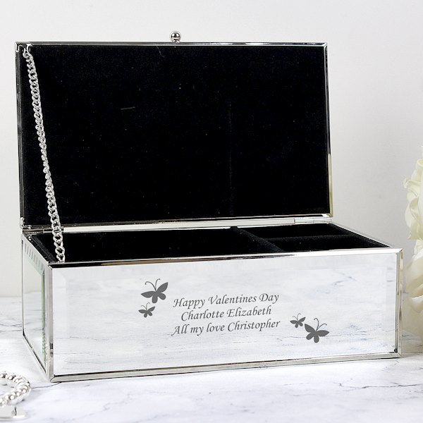 Butterflies Mirrored Jewellery Box