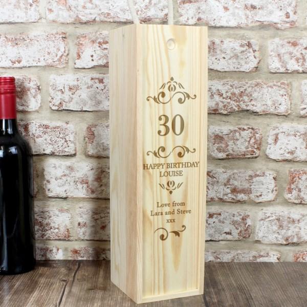 Elegant Number Bottle Presentation Box