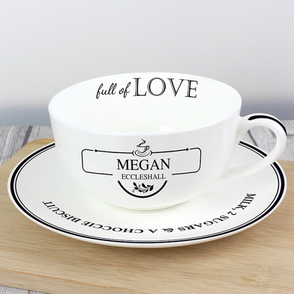 Full of Love Teacup & Saucer