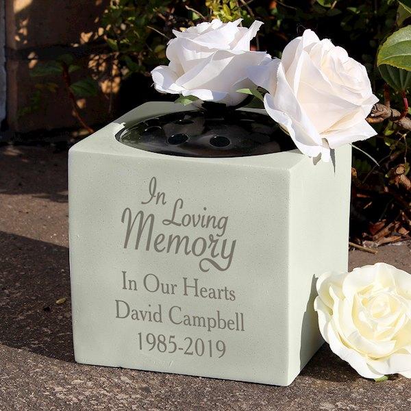 In Loving Memory Memorial Vase