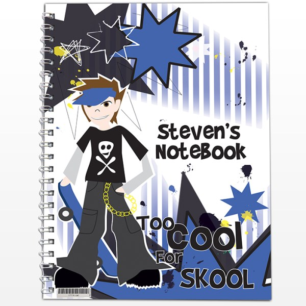 Too Cool Boy A5 Notebook | SpecialMoment.co.uk