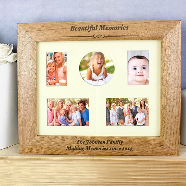 10x8 Any Message Wooden Photo Frame