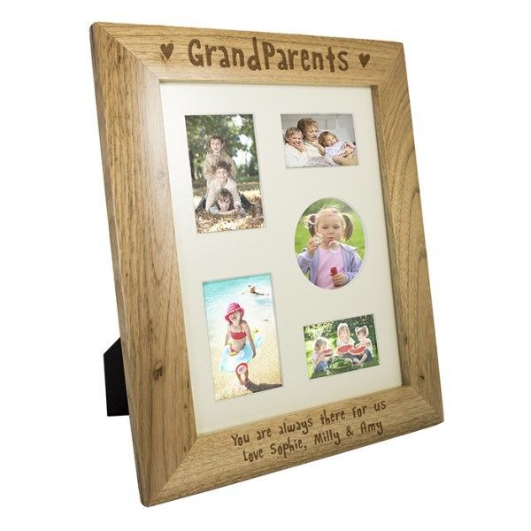 8x10 Grandparents Wooden Photo Frame in Portrait