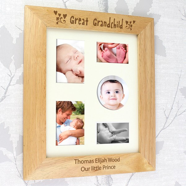 8x10 Great Grandchild Wooden Photo Frame