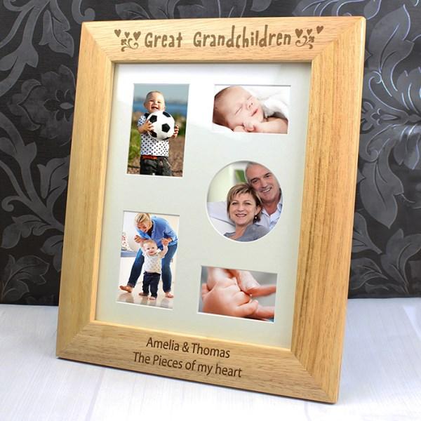 8x10 Great Grandchildren Wooden Photo Frame