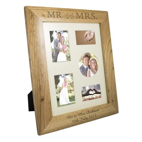Mr & Mrs 8x10 Wooden Photo Frame in Portrait