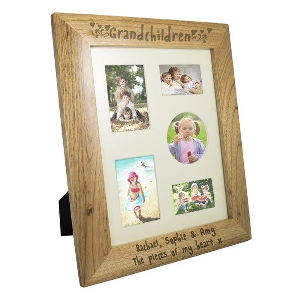 Grandchildren 8x10 Wooden Photo Frame in Portrait