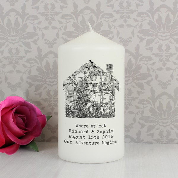1805 - 1874 Old Series Map Home Candle