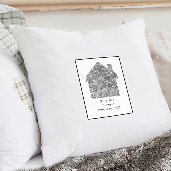 1805 - 1874 Old Series Map Home Cushion Cover