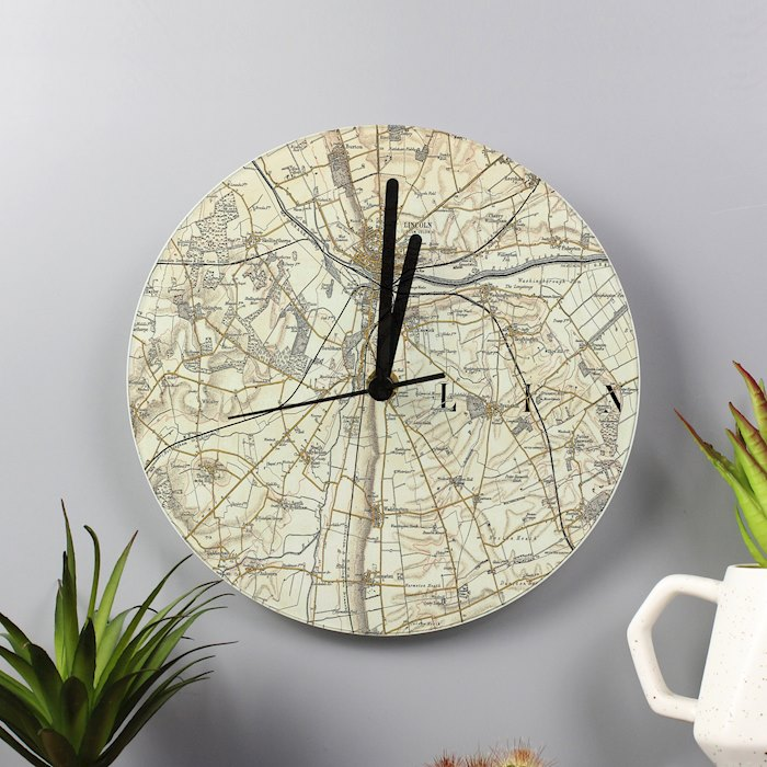 1896 - 1904 Revised Glass Map Clock