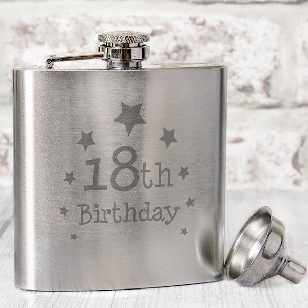 18th Birthday Hip Flask