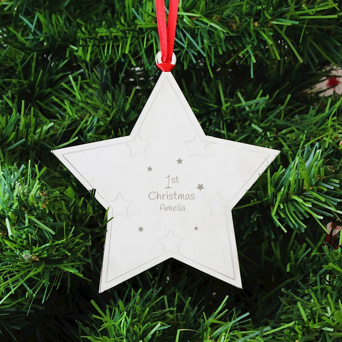 1st Christmas Star Tree Decoration