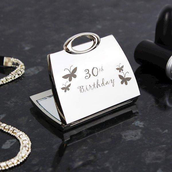 30th Butterfly Handbag Compact Mirror