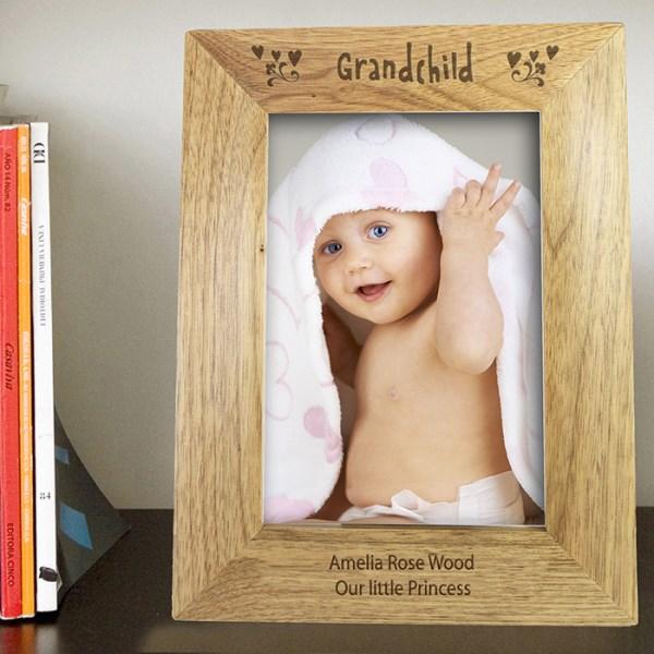 5x7 Grandchild Wooden Photo Frame