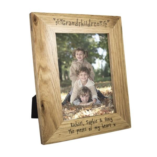 5x7 Grandchildren Wooden Photo Frame