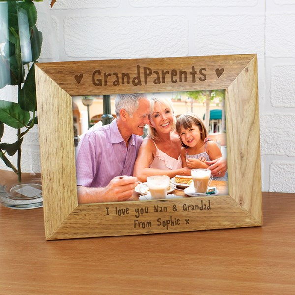 7x5 Grandparents Wooden Photo Frame