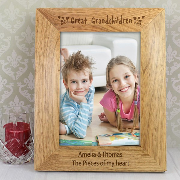 5x7 Great Grandchilden Wooden Photo Frame