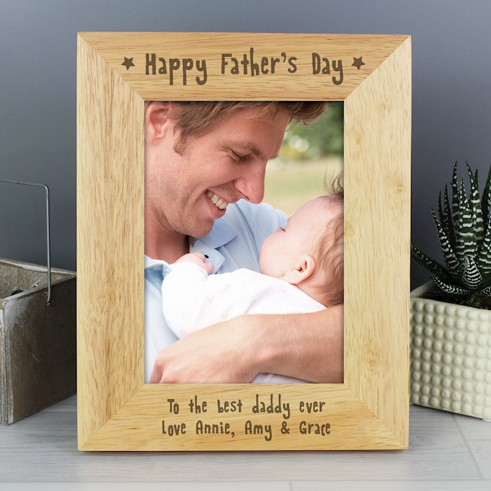 5x7 Happy Father's Day Wooden Photo Frame
