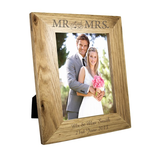 5x7 Mr & Mrs Wooden Photo Frame