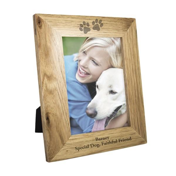 5x7 Paw Prints Wooden Photo Frame