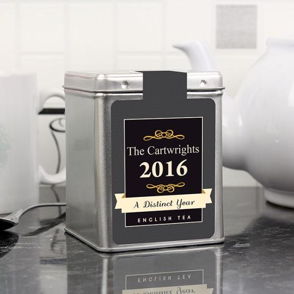 A Distinct Year Tea & Tin