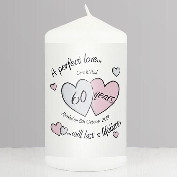 A Perfect Love Diamond Anniversary Candle