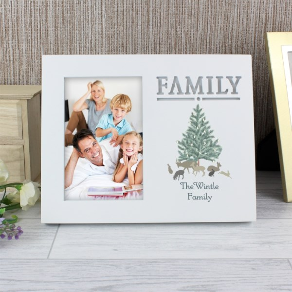 A Winters Night Family 4x6 Light Up Frame