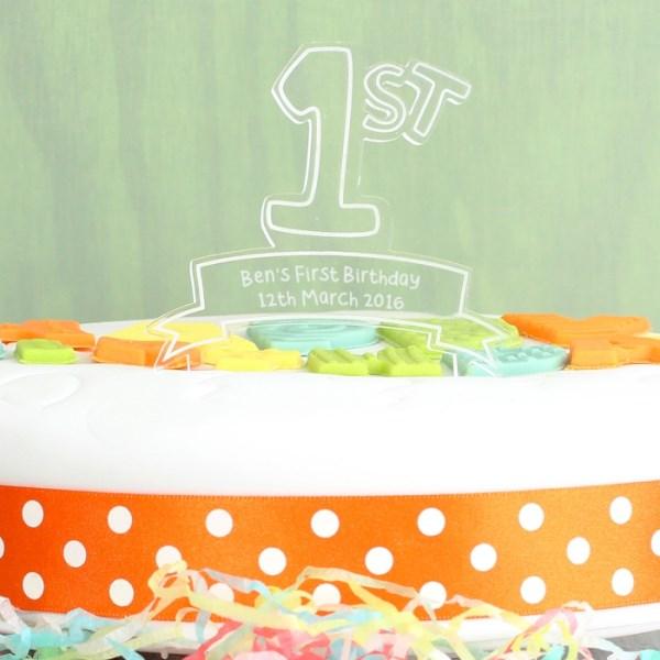 Acrylic '1st' Celebration Cake Topper