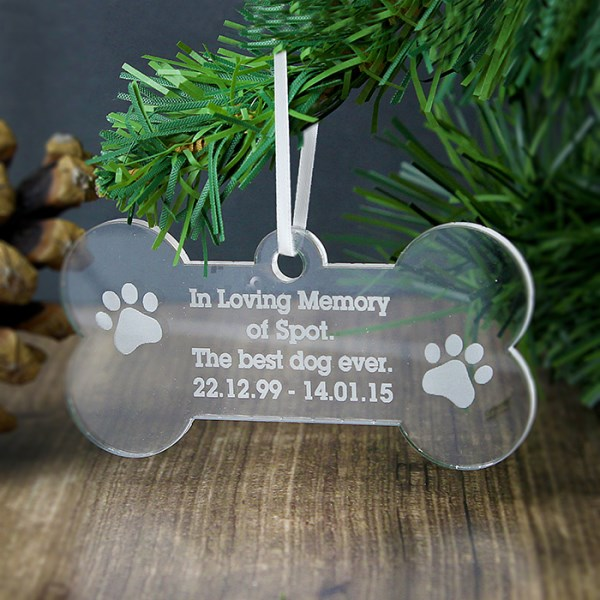 Acrylic Dog Bone Decoration