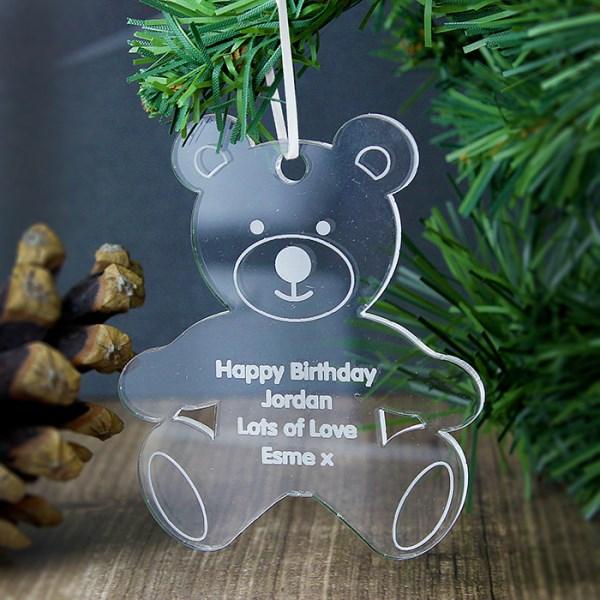 Acrylic Teddy Bear Decoration