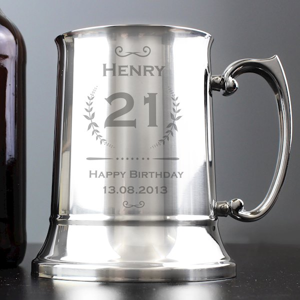 Age Crest Stainless Steel Tankard