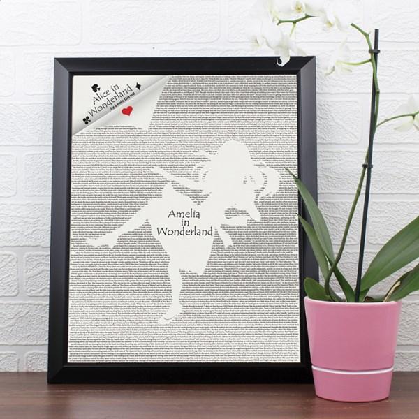 Alice in Wonderland Black Framed Poster Print