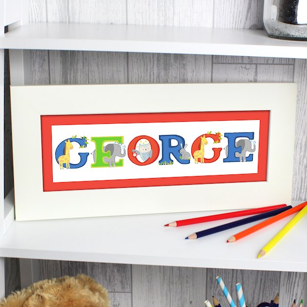 Animal Alphabet Name Frame