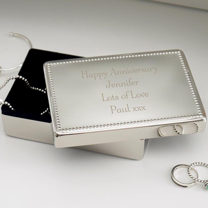 Any Message Rectangular Jewellery Box
