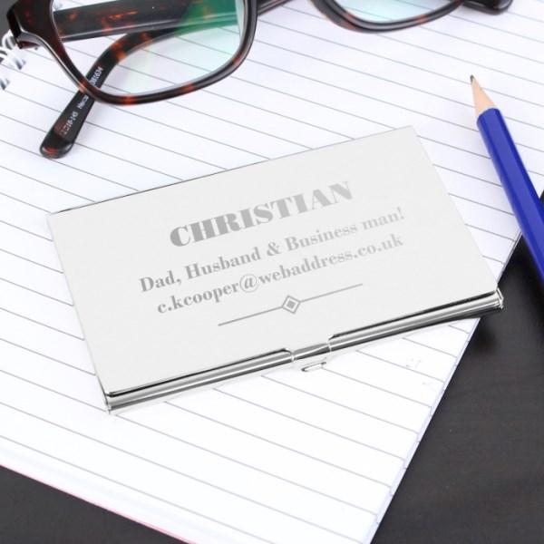 Art Deco Business Card Holder
