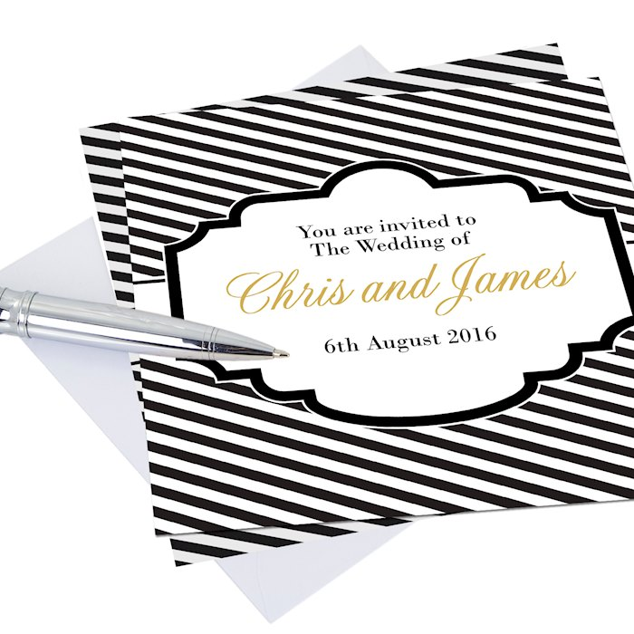 Art Deco Striped Pack of 20 Cards