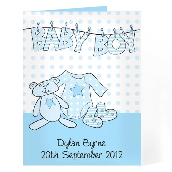 Baby Boy Washing Line Card 2