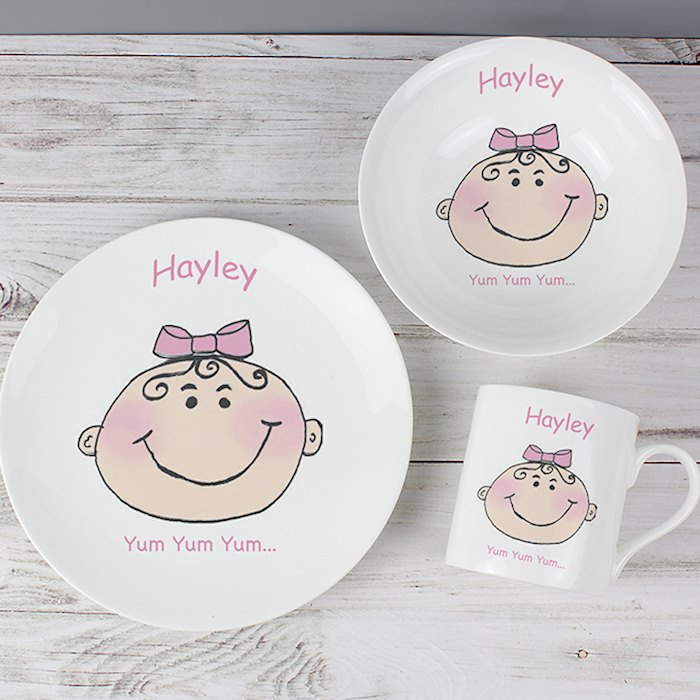 Baby Girl Breakfast Set