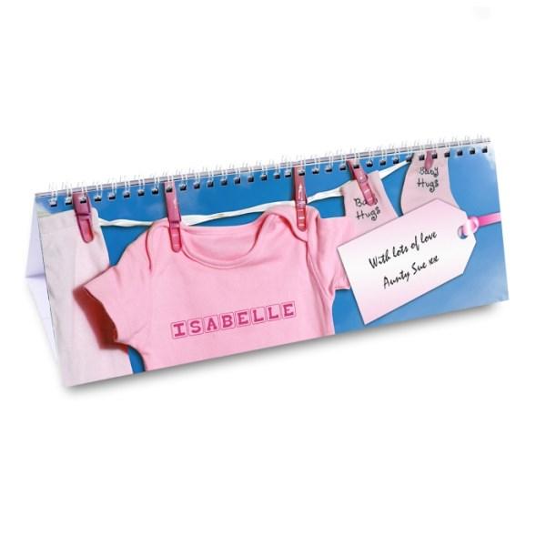 Baby Girl Desk Calendar