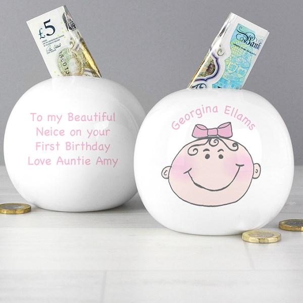 Baby Girl Money Box