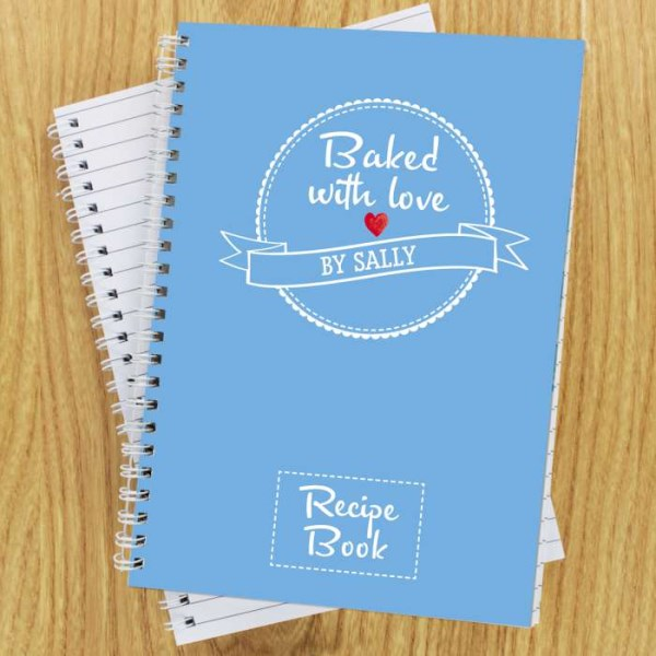 Baked With Love Recipes A5 Notebook