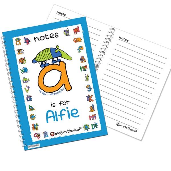 Bang On The Door Animal Alphabet Boys A5 Notebook
