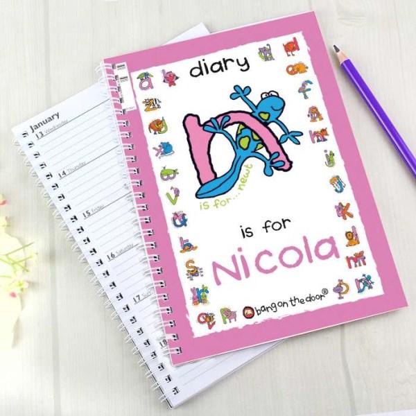 Bang On The Door Animal Alphabet Girls A5 Diary